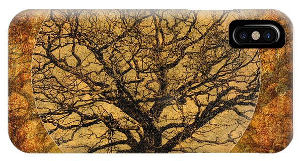 Golden Autumnal Trees IPhone Case