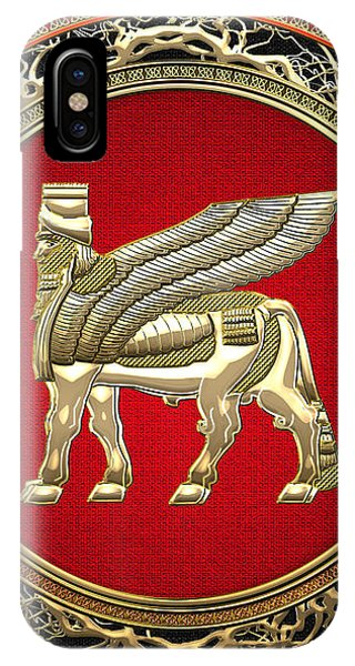 Golden Babylonian Winged Bull  IPhone Case