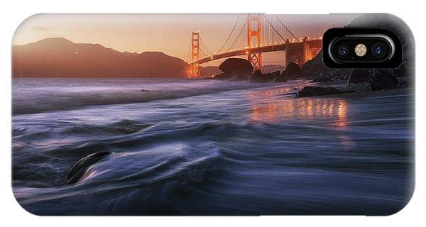 Bridge iPhone Case - Golden Beach by Juan Pablo De