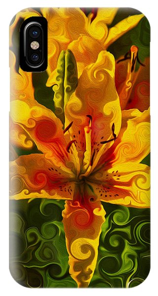 IPhone Case featuring the painting Golden Beauties by Omaste Witkowski