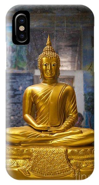 Tropes iPhone Case - Golden Buddha In Sri Lanka by Gina Koch