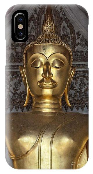 Golden Buddha Temple Statue IPhone Case