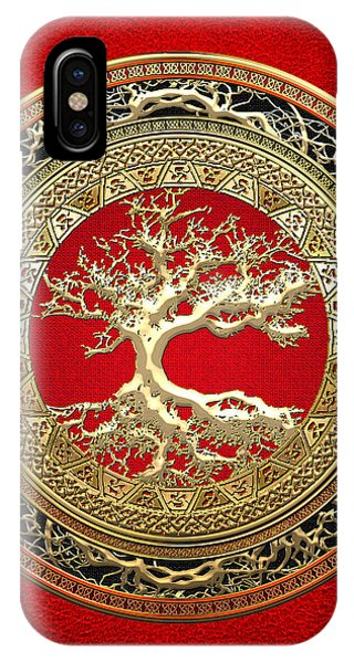Golden Celtic Tree Of Life  IPhone Case