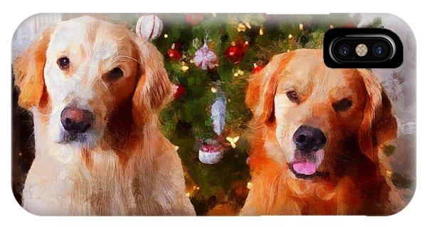 Golden Christmas IPhone Case