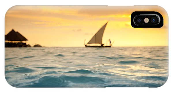 Golden Dhoni Sunset IPhone Case
