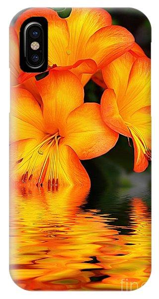Golden Gardens iPhone Case - Golden Dreams by Kaye Menner