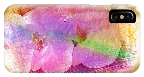 Golden Dreams Of Orchids IPhone Case