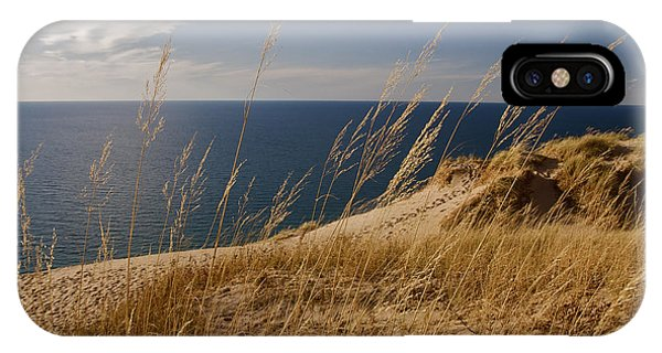 Golden Dune Grass On The Lake IPhone Case