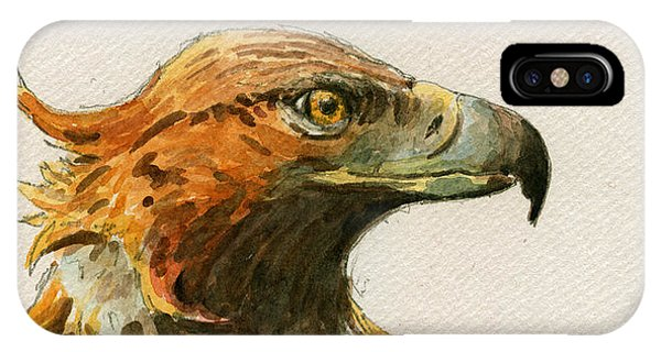Mouse iPhone Case - Golden Eagle by Juan  Bosco