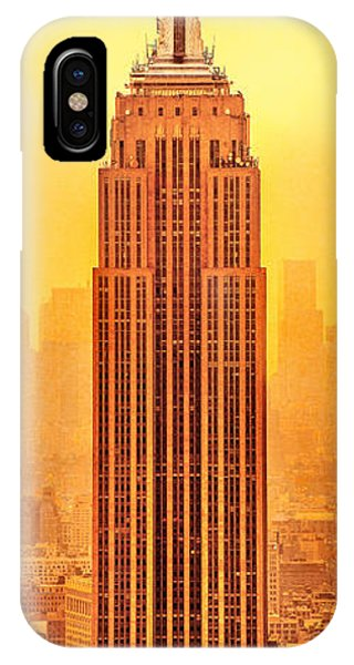 Building iPhone Case - Golden Empire State by Az Jackson