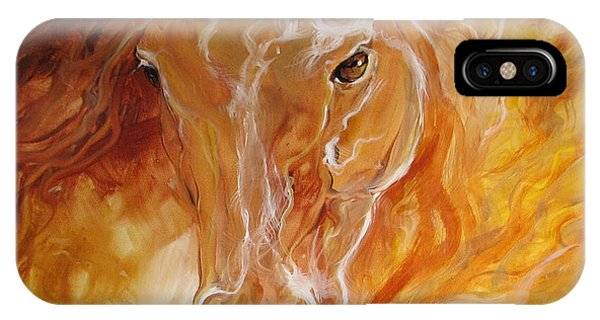 Golden Essence Equine IPhone Case