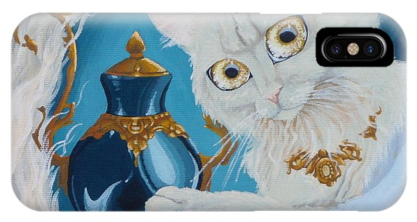 Golden Eyed Angel Bast Cat  Phone Case by Jennifer  Anne Esposito