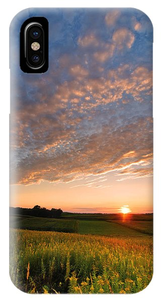 Red Sky iPhone X Case - Golden Fields by Davorin Mance
