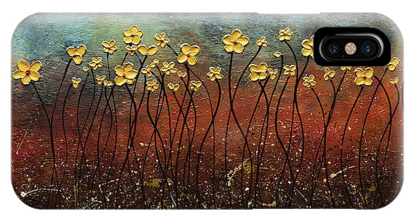 Golden Flowers IPhone Case