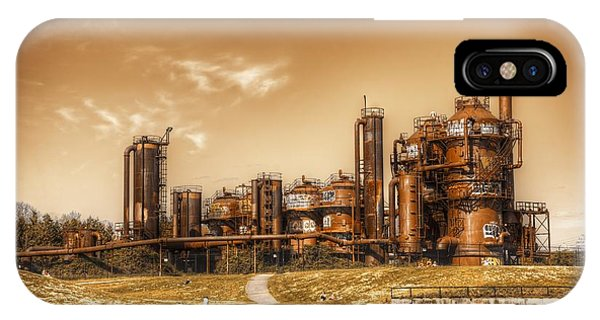 Golden Gas Works IPhone Case