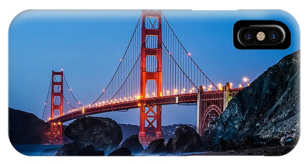 Golden Gate At Twilight IPhone Case