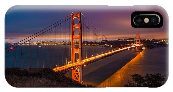 Golden Gate At Twilight IPhone Case