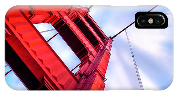 Explosion iPhone X Case - Golden Gate Boom by Az Jackson