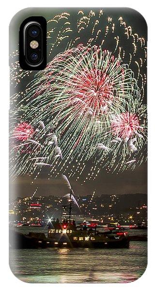 Golden Gate Bridge 75th Anniversary Fireworks 18 IPhone Case