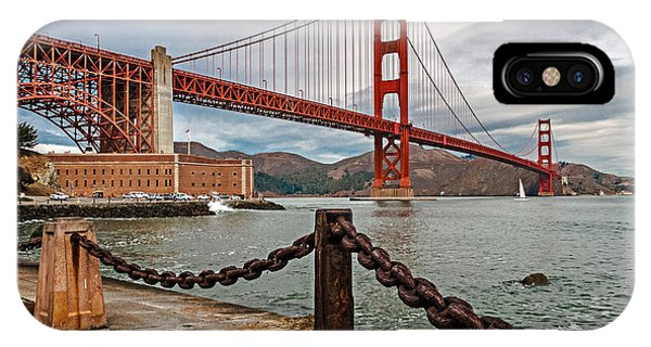 Golden Gate Bridge And Fort Point IPhone Case