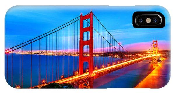 Bay Bridge iPhone Case - Follow The Golden Trail by Az Jackson