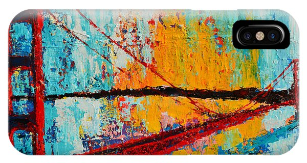 Golden Gate Bridge Modern Impressionistic Landscape Painting Palette Knife Work IPhone Case
