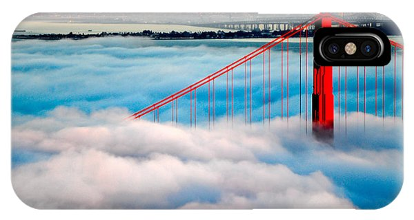 Golden Gate Bridge In Fog IPhone Case