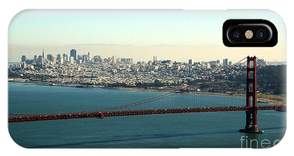 Hotel iPhone Case - Golden Gate Bridge by Linda Woods
