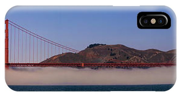 Golden Gate Bridge Over Fog Panorama IPhone Case