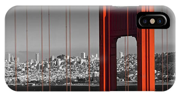 Golden Gate Bridge Panoramic Downtown View IPhone Case