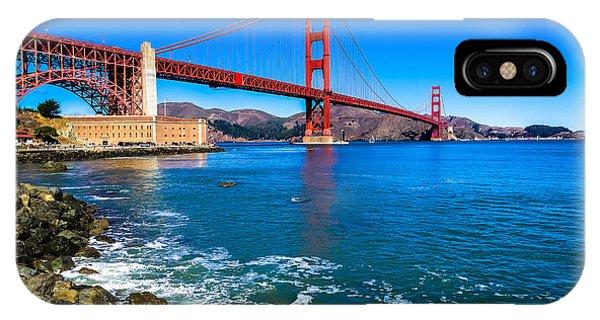 View Point iPhone Case - Golden Gate Bridge San Francisco Bay by Scott McGuire