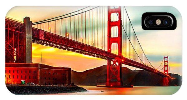 Craig iPhone Case - Golden Gate Sunset by Az Jackson