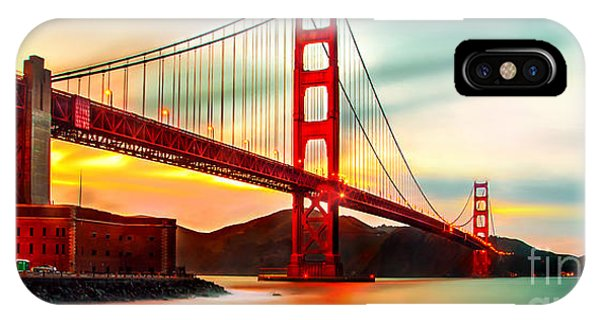 Bay Bridge iPhone Case - Golden Gate Sunset by Az Jackson