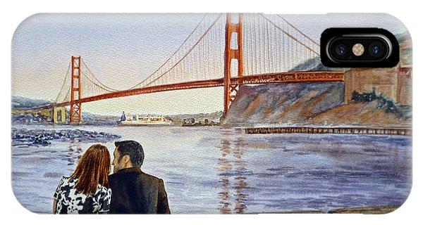 Golden Gate Bridge San Francisco - Two Love Birds IPhone Case