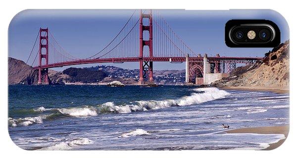 Golden Gate Bridge - Seen From Baker Beach IPhone Case