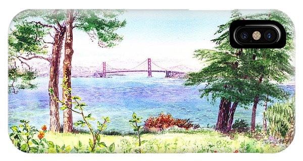 Golden Gate Bridge View From Lincoln Park San Francisco IPhone Case