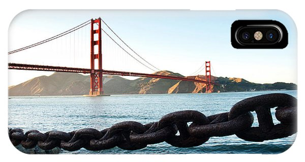 Golden Gate Bridge With Chain IPhone Case