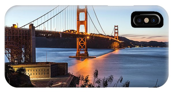 IPhone Case featuring the photograph Golden Gate Night by Kate Brown