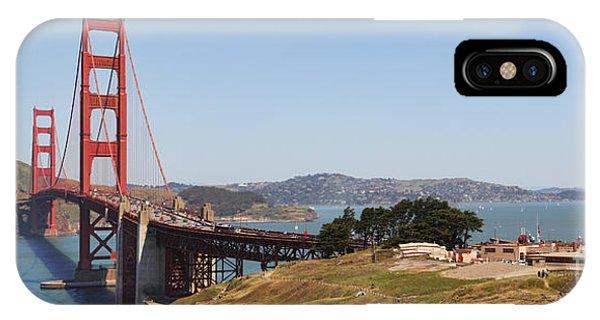 Golden Gate Panorama 7 IPhone Case