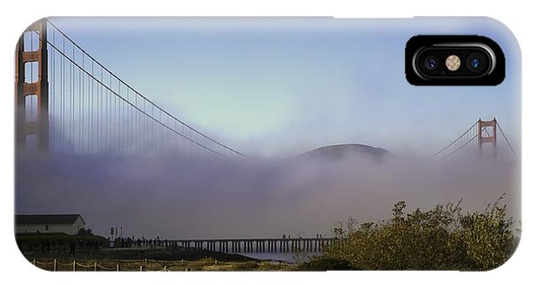 IPhone Case featuring the photograph Golden Gate Soft Fog by Michael Hope