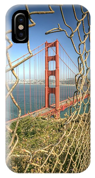 Chain iPhone Case - Golden Gate Through The Fence by Scott Norris