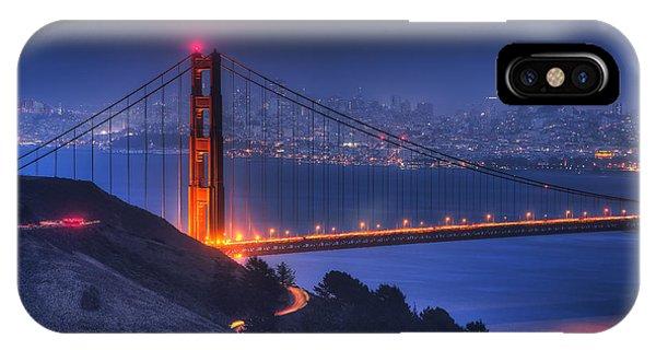 Golden Gate Twilight IPhone Case