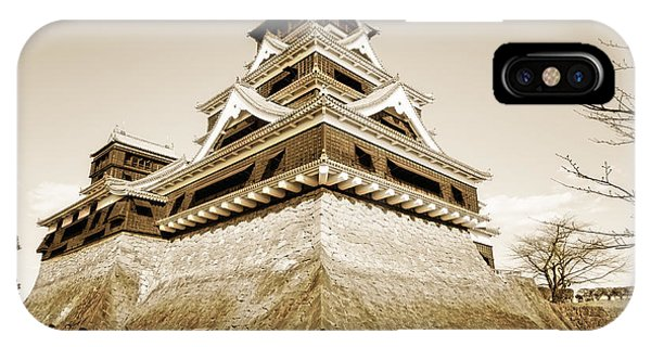 Golden Glow - Kumamoto Castle - Kyushu - Japan IPhone Case