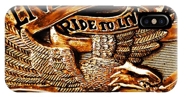 Tint iPhone Case - Golden Harley Davidson Logo by Chris Berry