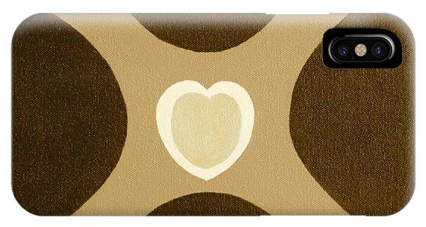 Golden Heart 3 IPhone Case