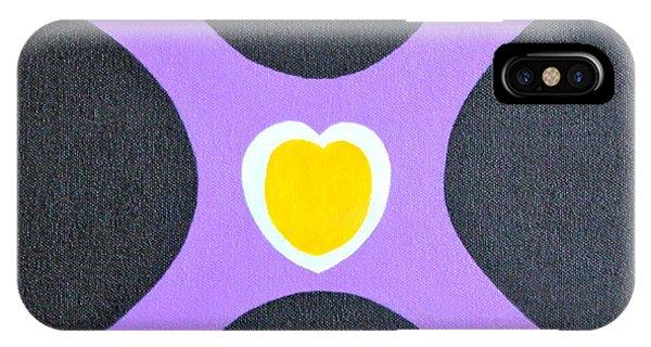 Golden Heart IPhone Case