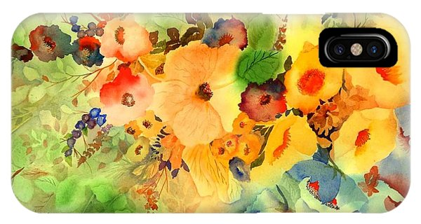 Hibiscus Flower iPhone Case - Golden Hibiscus by Neela Pushparaj
