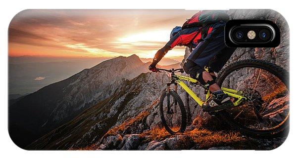 Golden Hour High Alpine Ride IPhone Case