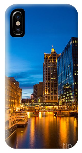 Golden Hour Milwaukee River IPhone Case