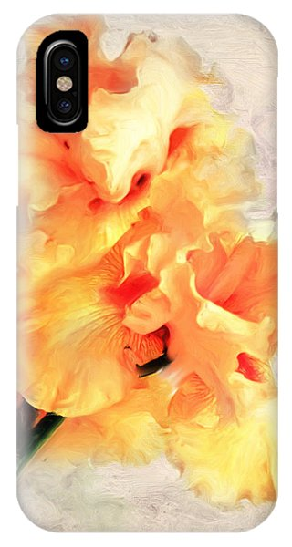 Golden Iris 1 IPhone Case